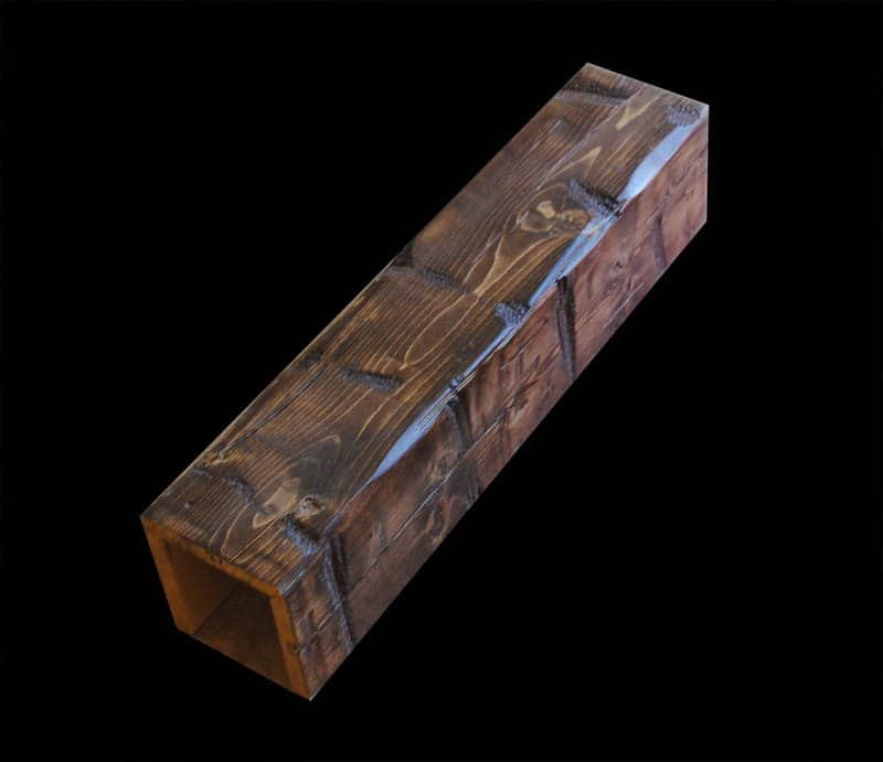 Reclaimed style cedar 1 woodland beam for Wood box beam